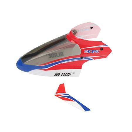 Blade Blade mCP X Complete Red Canopy with Vertical Fin BLH3518