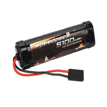 Image Of Dynamite Speed Pack 5100mAh NiMH 6 Cell Flat Pack with Traxxas Connector