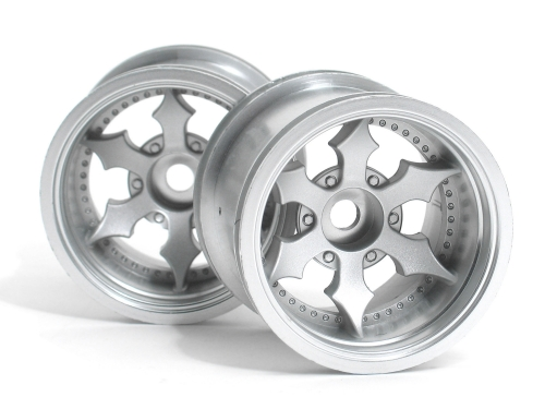 HPI Spike Truck Wheel (matte Chrome/2pcs) 3083