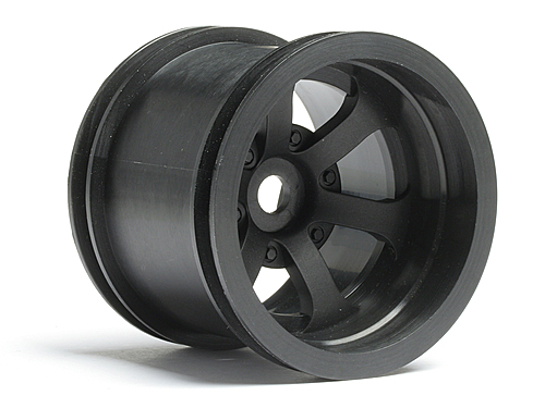 HPI Scorch 6-spoke Wheel Black (2.2in/55x50mm/2pcs) 3094