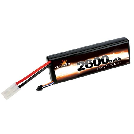 Dynamite 7.4volt 2600mAh 2S 15C LiPo with Hardcase and Tamiya connector DYN5350