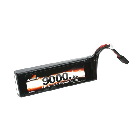 Dynamite 7.4volt 9000mAh 2S 25C LiPo Battery with Traxxas Connector DYN5363T