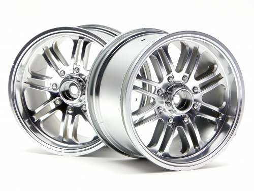 HPI 8 Spoke Wheel Satin Chrome (83x56mm/2pcs) 3138