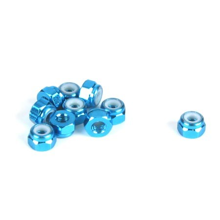 Dynamite 3mm Aluminium Lock Nut Blue (10) DYN8542