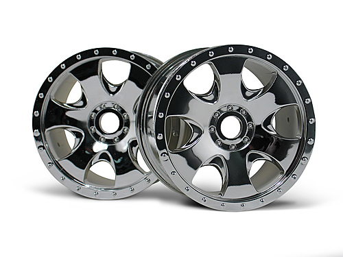 HPI Warlock Wheel Chrome (83x56mm/2pcs) 3192