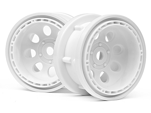 HPI Rock 8 Bead Lock Wheel White (55x36mm/2pcs) 3211