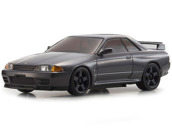 Image Of Kyosho MINI-Z MR-03S Nissan Skyline R32 - Gun Metal with LEDs