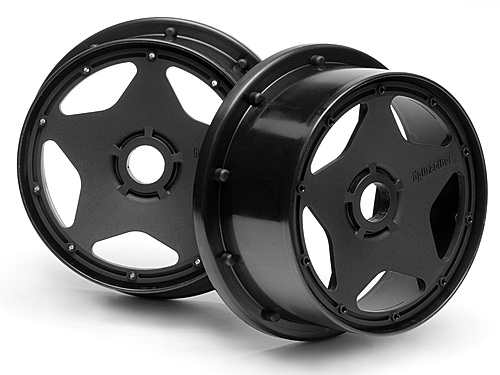 HPI Super Star Wheel Black (120x60mm/2pcs) 3221