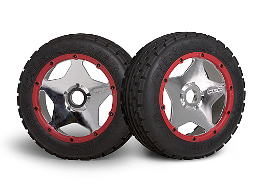 Image Of HPI Super Star Wheel Shiny Chrome (120x60mm/2pcs/)