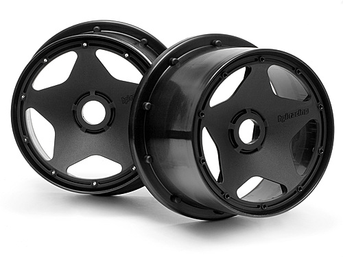 Image Of HPI Super Star Wheel Black (120 X 75mm/2pcs)
