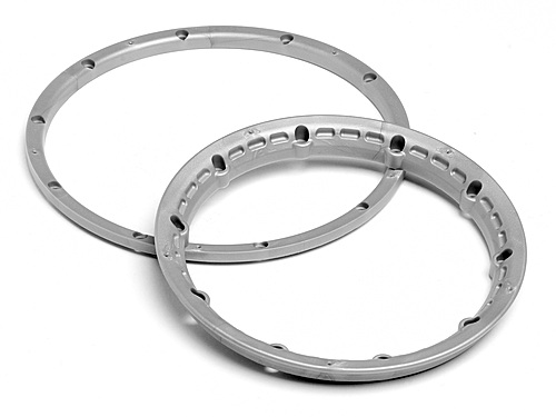 Image Of HPI Heavy Duty Wheel Bead Lock Rings (silver/for 2 Wheels)