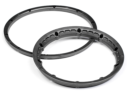 Image Of HPI Heavy Duty Wheel Bead Lock Rings (gunmetal/for 2 Wheels)