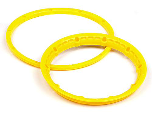 Image Of HPI Heavy Duty Wheel Bead Lock Rings (yellow/for 2 Wheels)