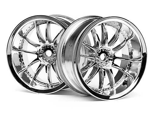 HPI Work Xsa 02c Wheel 26mm Chrome (6mm Offset) 3281
