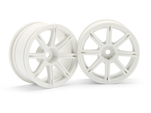 HPI Work Emotion Xc8 Wheel 26mm White (3mm Offset) 3303