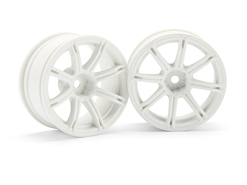 HPI Work Emotion Xc8 Wheel 26mm White (6mm Offset) 3304