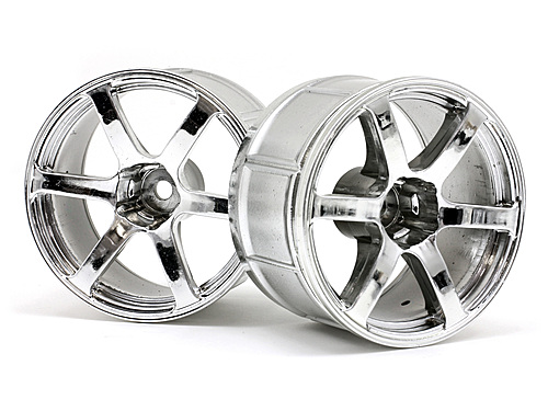 HPI Lp35 Wheel Yokohama Avs Model T6 Chrome (2pcs) 33467