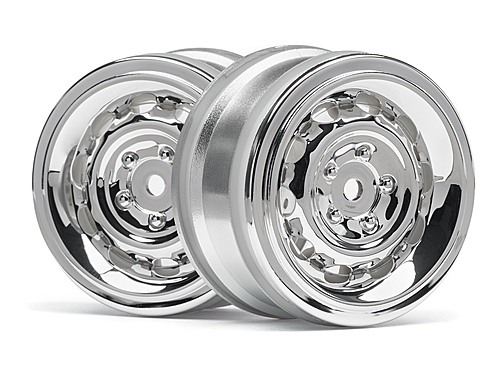 HPI Vintage Wheel Cc Type 26mm Chrome(0mm Offset/2pcs) 33472