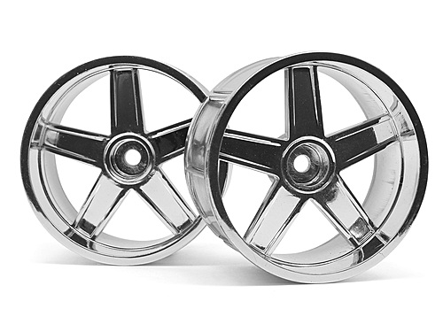 HPI Lp32 Wheel Mf Type Chrome (6mm Offset/2pcs) 33477