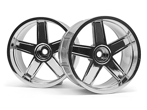 HPI Lp35 Wheel Mf Type Chrome (9mm Offset/2pcs) 33478