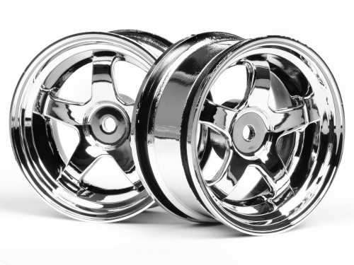HPI Work Meister S1 Wheel 26mm Chrome (3mm Offset) 3591