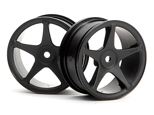 HPI Super Star Wheels 26mm Black (1mm Offset) 3696