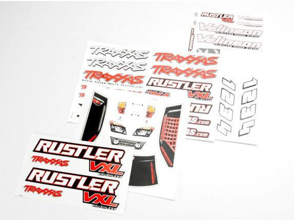 Traxxas Rustler VXL Decal Sheet 3713R