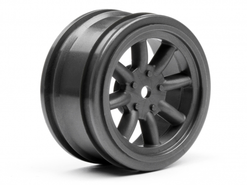 HPI Vintage 8 Spoke Wheel 26mm Gunmetal 0mm Offset 3809