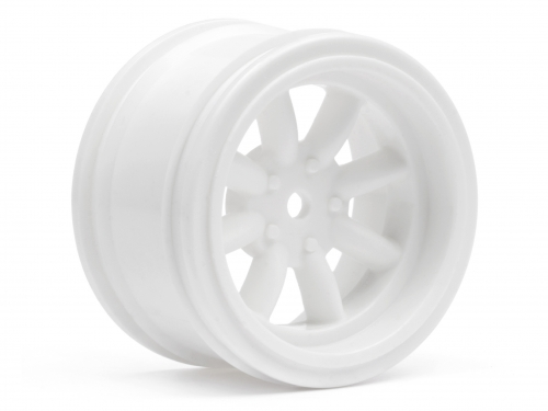 HPI Vintage 8 Spoke Wheel 31mm White 6mm Offset 3810