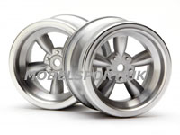 HPI Vintage 5 Spoke Wheel 31mm (wide) Matte Chrome (6mm Offset) 3820