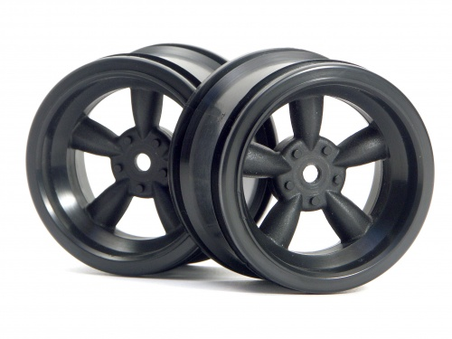HPI Vintage 5 Spoke Wheel 31mm (wide) Black (6mm Offset) 3821