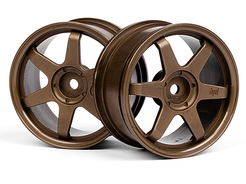 HPI Te37 Wheel 26mm Bronze (0mm Offset) 3838