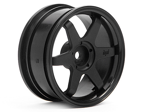 HPI Te37 Wheel 26mm Black (3mm Offset) 3841