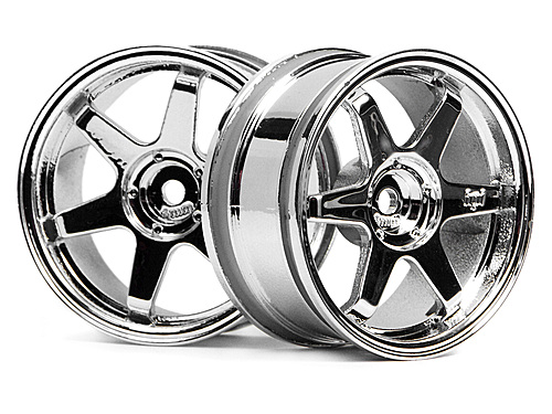 HPI Te37 Wheel 26mm Chrome (3mm Offset) 3842