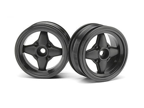 HPI Mx60 4 Spoke Wheel Gunmetal (0mm Offset/2pcs) 3904