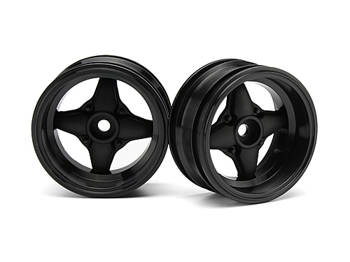 HPI Mx60 4 Spoke Wheel Black (6mm Offset/2pcs) 3911