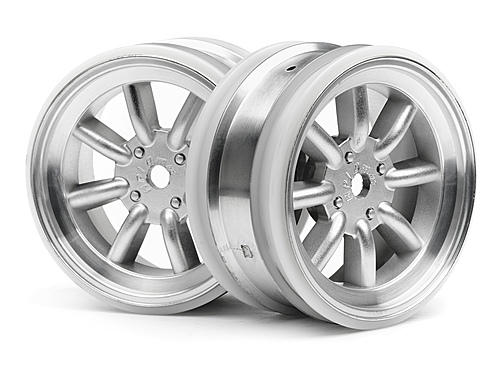 HPI Mx60 8 Spoke Wheel Matte Chrome (0mm Offset) 3933
