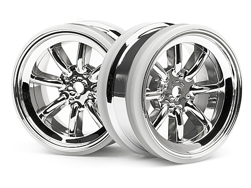 HPI Mx60 8 Spoke Wheel Chrome (3mm Offset/2pcs) 3937