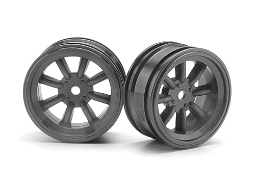 HPI Mx60 8 Spoke Wheel Gunmetal (3mm Offset/2pcs) 3939