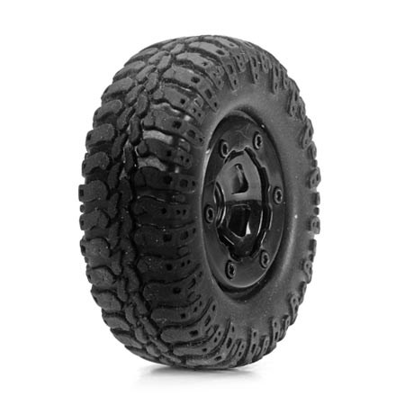 Losi Mc4x4 Scale AT Tyre  Wheel Mounted (4) LOSB1578