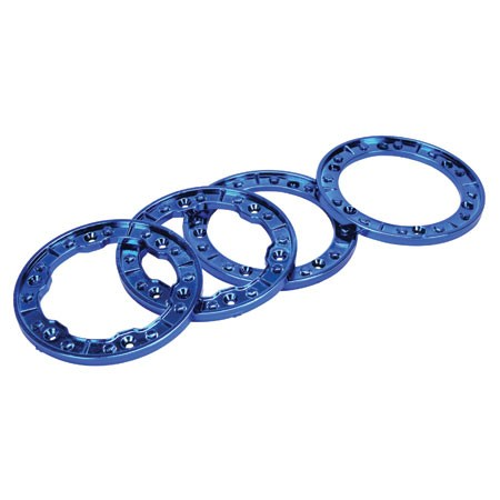 Losi Night Crawler RTR Beadlock Rings Blue Chrome LOSB7002