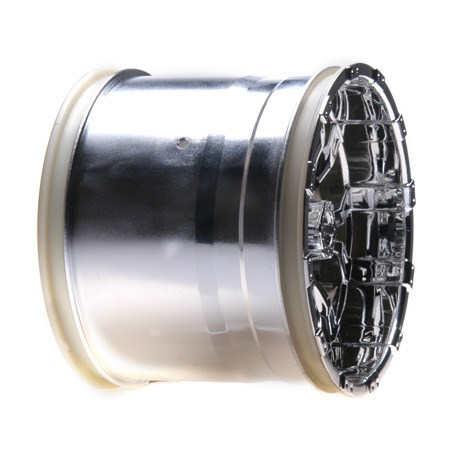 Losi Universal 420 Series Chrome Front Wheel with Cap (2) LOSB7012