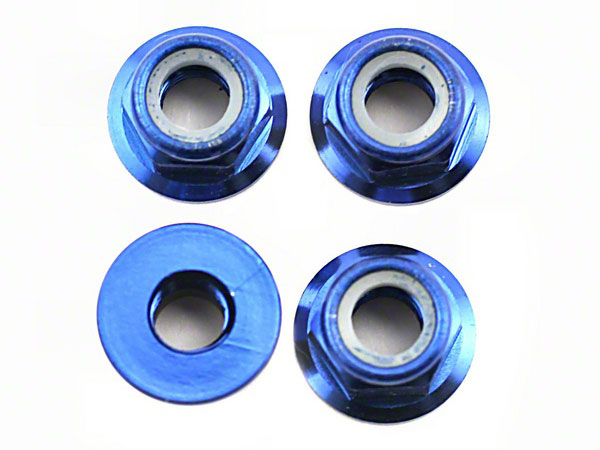 Image Of Traxxas 5mm Flanged Wheel Nuts (Blue)