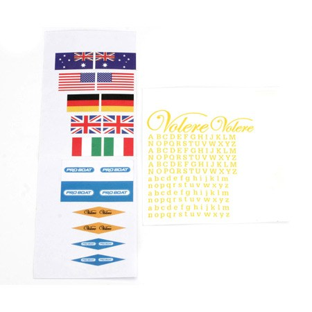 ProBoat Volere 22 EP Decal Sheet PRB3064