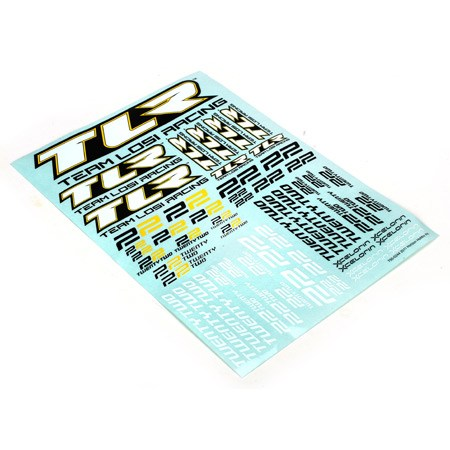 Team Losi Racing 22 Sticker Sheet TLR8308