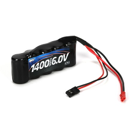 Losi 6volt 1400mAh NiMH Receiver Flat Pack for JST Futaba Plugs LOSB9953