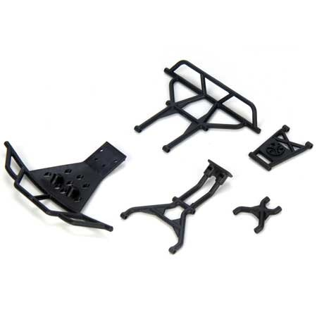 Losi Mini Short Course Truck Front and Rear Bumper  Support Set LOSB1854