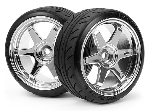 HPI Mounted Super Drift Tyre (a Type) On Te37 Wheel Chrome 4704