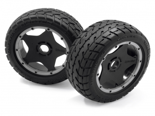 HPI Mounted Tarmac Buster Rib Tire M Compound (front) 4742
