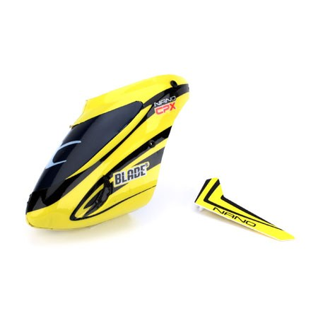 Blade Nano CP X Complete Yellow Canopy with Vertical Fin BLH3318